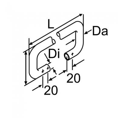 Шланг нарезанный резиновый D20 L=2230