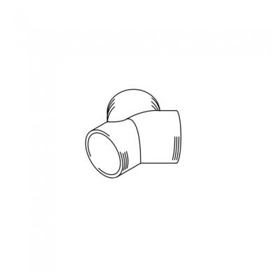 Тройник 80/60/60 мм (нерегул.) Y
